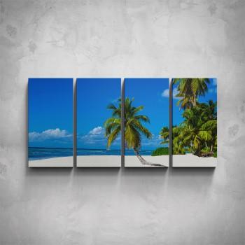 4-dílný obraz - Bílá pláž