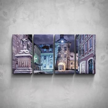 4-dílný obraz - Noční město