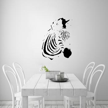 Samolepka na zeď - Zebra