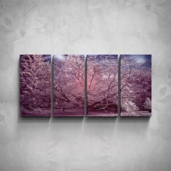 4-dílný obraz - Podzimní les