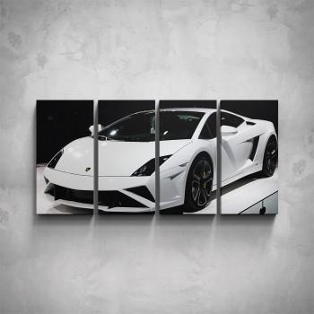 4-dílný obraz - Lamborghini