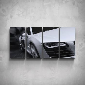 4-dílný obraz - Audi - detail