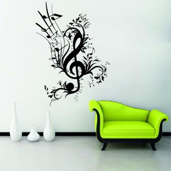 Samolepka na zeď - Hudební ornament