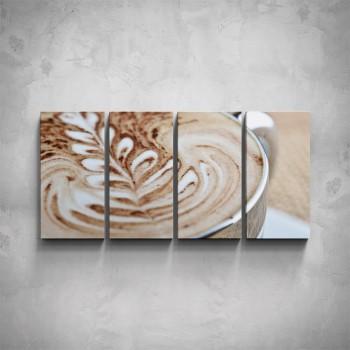 4-dílný obraz - Ranní káva