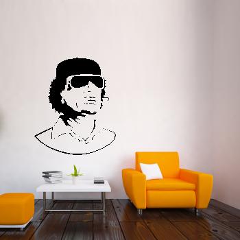 Samolepka na zeď - Muammar Kaddáfí