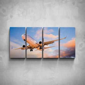 4-dílný obraz - Vzlet letadla