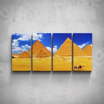 4-dílný obraz - Sluneční pyramidy
