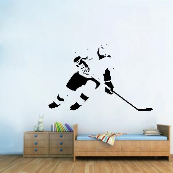 Samolepka na zeď - Hokejista