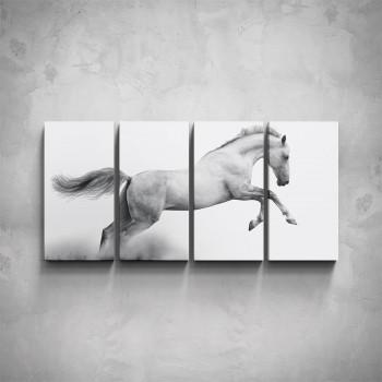 4-dílný obraz - Kůň ve skoku