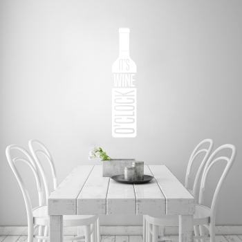 Samolepka na zeď - It´s Wine o´clock