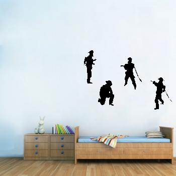 Samolepka na zeď - Hasiči set