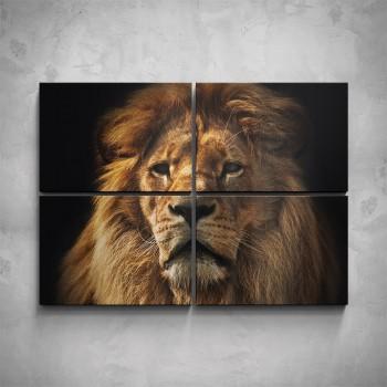 4-dílný obraz - Lev