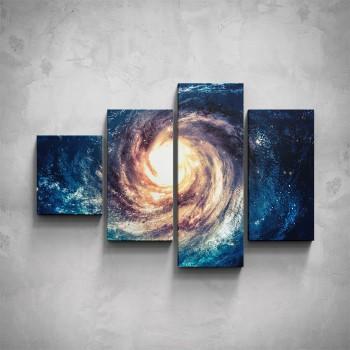 4-dílný obraz - Vesmír