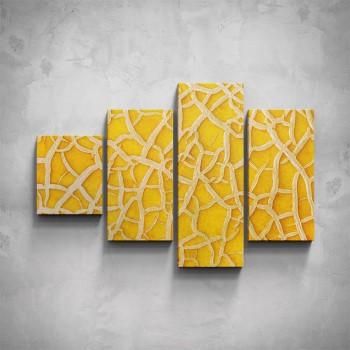 4-dílný obraz - Žluté makro