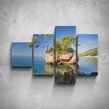 4-dílný obraz - Malý ostrov