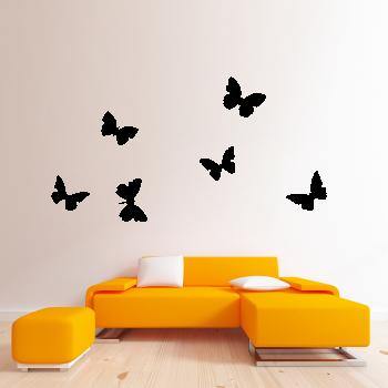 Samolepka na zeď - Motýlci Set