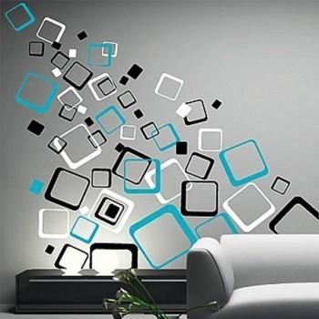 Samolepka na zeď - Moderní čtverce