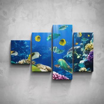 4-dílný obraz - Podmořský život