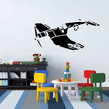 Samolepka na zeď - Staré letadlo