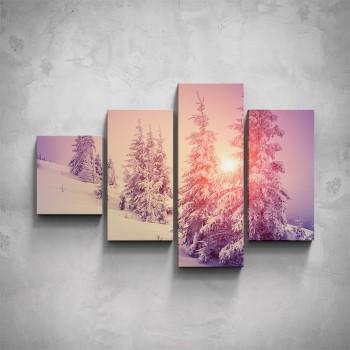 4-dílný obraz - Zima