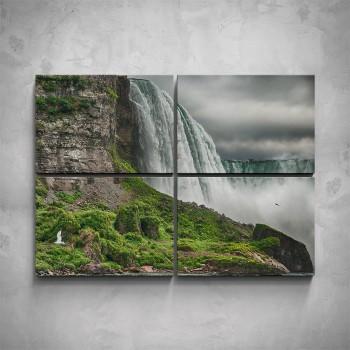 4-dílný obraz - Velký vodopád