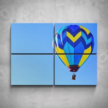 4-dílný obraz - Horkovzdušný balón