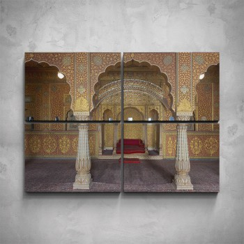 4-dílný obraz - Interiér paláce