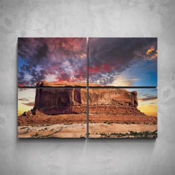 4-dílný obraz - Národní park Canyonlands