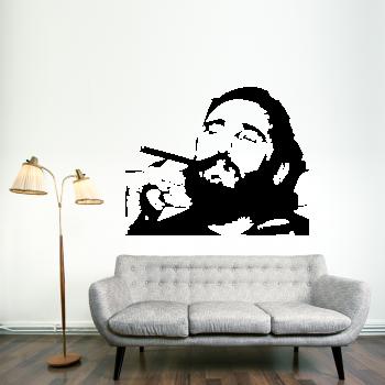 Samolepka na zeď - Fidel Castro