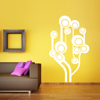 Samolepka na zeď - Bubble strom