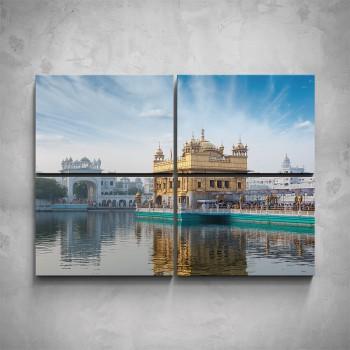 4-dílný obraz - Indický palác