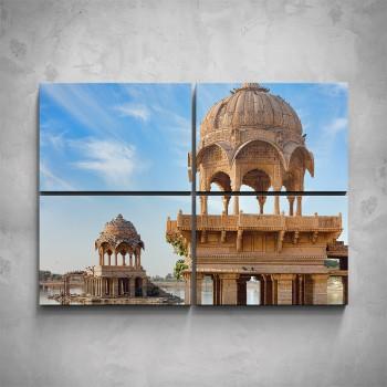4-dílný obraz - Indická architektura