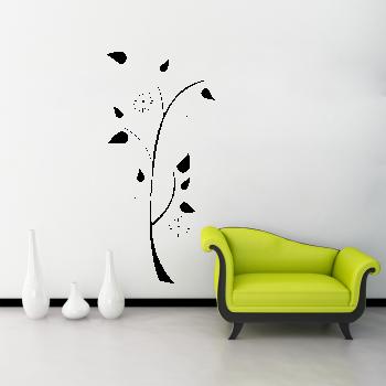 Samolepka na zeď - Květina