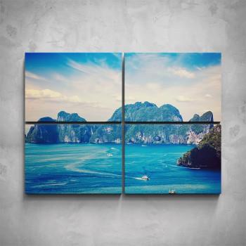 4-dílný obraz - Skalní útesy