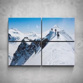 4-dílný obraz - Horolezci