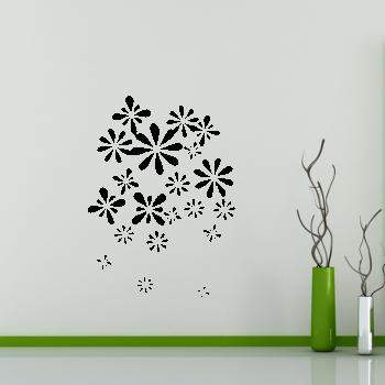 Samolepka na zeď - Pnoucí květiny