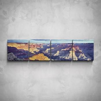 4-dílný obraz - Pohled na Grand Canyon