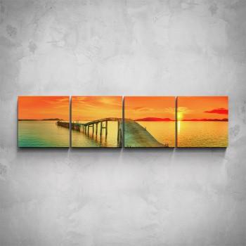 4-dílný obraz - Molo v moři