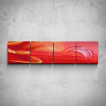 4-dílný obraz - Kapka rosy