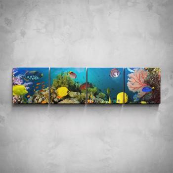 4-dílný obraz - Podmořský svět