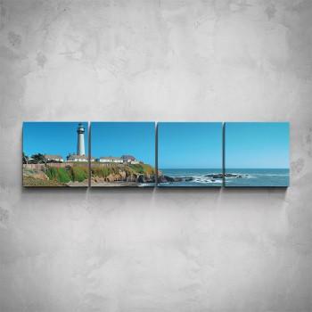 4-dílný obraz - Maják na pobřeží