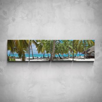 4-dílný obraz - Dovolená na pláži