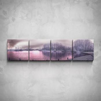 4-dílný obraz - Růžové molo