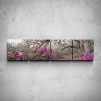 4-dílný obraz - Pohádkový les