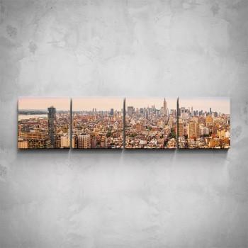 4-dílný obraz - Pohled na město