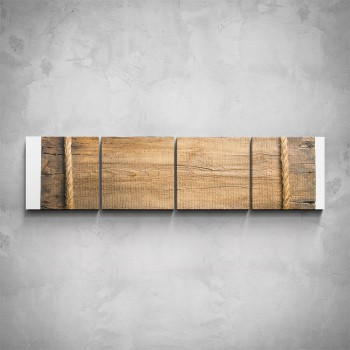 4-dílný obraz - Detail dřeva