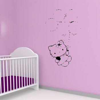 Samolepka na zeď - Hello Kitty