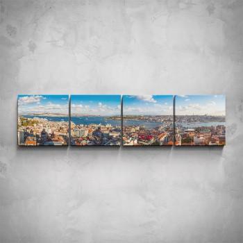 4-dílný obraz - Přístavní město