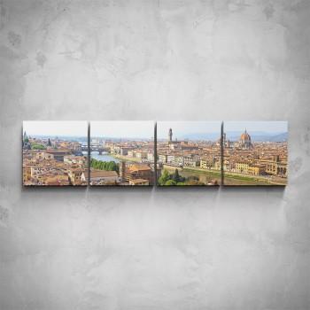 4-dílný obraz - Pohled na Florencii