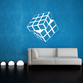 Samolepka na zeď - Rubikova Kostka